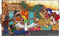 Cuadros Modernos: Imágenes de Murales Politicos Chilenos Ganesha, Art Drawings, Street Art, Mosaic, Behance, Cool Stuff, Painting, Inspiration, Murals