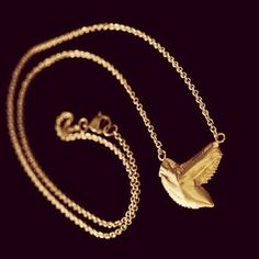 Swimming Necklace (gold vermeil)