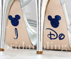 I Do Shoe Stickers For The Disney Bride Glittering Something Blue - Sapphire. $7.99, via Etsy.