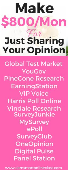 Do you know that you can make extra cash from home for just sharing your opinion? Get this list of survey sites that you can sign up with and start making money online from the comfort of your home.