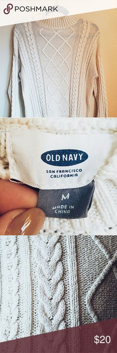 Old Navy Cableknit Sweater Cableknit//Cream-Colored//Sweater//Turtleneck// Old Navy Sweaters Cowl & Turtlenecks