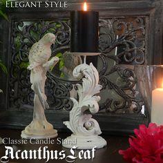【楽天市場】Acanthus ホワイトリーフ デコラティブキャンドルホルダー キャンドルスタンド 燭台 ロウソク オブジェ アンティーク アンティーク風 雑貨 ホワイト クラシック:DECOR Plus