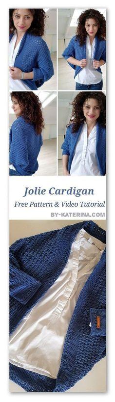 jolie cardigan Crochet Ponchos, Crochet Jacket, Crochet Cardigan, Crochet Shawl, Crochet Yarn, Crochet Clothes, Free Crochet, Cocoon Crochet Pattern Free, Crochet Sweaters