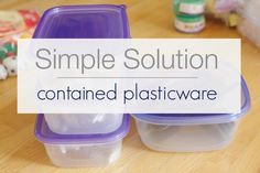 simply organized: Simple Solution: Contained Plasticware