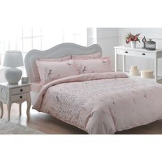 Brielle Rayon from Bamboo Twill Eden Duvet Cover Set with Giftable Box Full/Queen Pink Pink Bedding, Comforter Sets, Luxury Bedding, King Comforter, Bird Bedroom, Bedroom Decor, Bedroom Setup, Master Bedroom, Pottery Barn