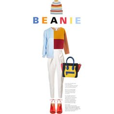 How To Wear Primary Colours and a Beanie Outfit Idea 2017 - Fashion Trends Ready To Wear For Plus Size, Curvy Women Over 20, 30, 40, 50