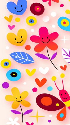 Pattern - Tap to see more cute cartoon wallpapers! - @mobile9