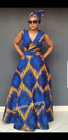 Top African Print Maxi Dresses 2018 - Our Nail Long African Dresses, African Print Dresses, African Print Fashion, Africa Fashion, African Fashion Dresses, Fashion Outfits, Fashion Ideas, African Prints, Fashion Styles