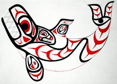 This is an Orca (Killer Whale), completed in the formline design style developed by native Americans of the Northwest Coast (specifically Haida). Description from deviantart.com. I searched for this on bing.com/images