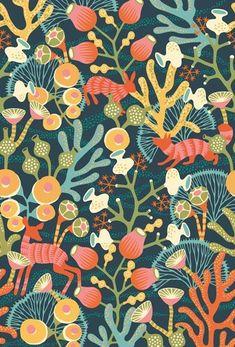 Scandinavian design wallpaper Koralläng from collection  by Borastapeter and Eco Wallpaper