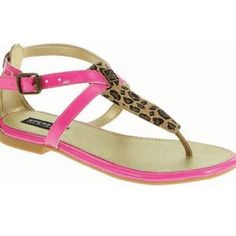 Sperry Top-Sider Summerlin Leopard Pink Sandals! Brand new! Bought them and never got around to wearing them... They are kids size 4 but I'm a 6 and fit perfect on me Sperry Top-Sider Shoes Sandals