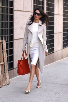 What: Tod's bag, Oscar da la Renta shoes  When: April 6, 2015 Where: At Columbia University in New York City