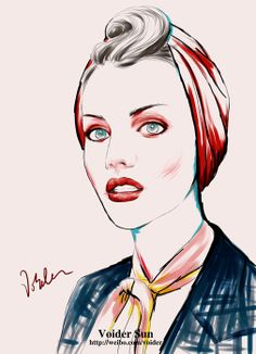 Voider Sun's Fashion Illustrations by Voider Sun, via Behance