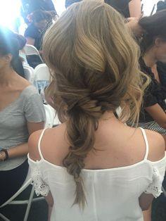 Tori Praver/Miami Open?Swimwear fashion show Deconstructed fishtail braid with beach hair  LOVE THE LOOK ! 2015