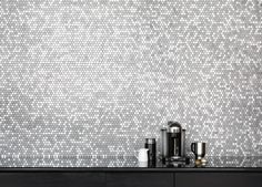 Two of our favorite things. #coffee #tile || Montane Collection - Shop Today! (Photo by Bedrosians) #gbtilecollections #tiles #mosaics #glasstile #metalmosaics #stonemosaics #glassmosaics #interiordesign #interiordesigners #interiors #roominspiration #roomdesign #remodeling #remodel #renovating #renovation