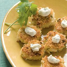 Our Best Party Appetizers | Bite-size Wasabi Crab Cakes | CoastalLiving.com
