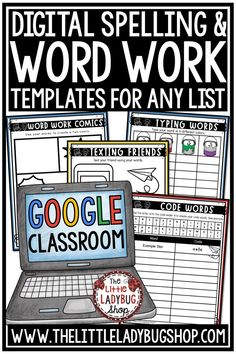 You will love the Digital Word Work Activities & Spelling Activities Templates for Google Slides. These are perfect to use with any spelling, vocabulary, word list! Your students will love using these digital templates! Perfect Word Work Center ideas for students in 3rd grade, 4th grade and homeschool classrooms #digitalspellingactivities #wordworkworksheets