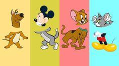 Cabeças Trocadas com Scooby Doo, Mickey Mouse, Tom e Jerry Aprendizado p...