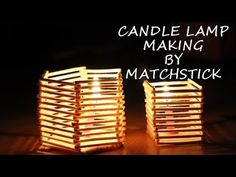 MatchStick Craft Candle Making DiY