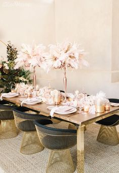 Bohemian Glam to Pink Pampas Grass | ElegantWedding.ca