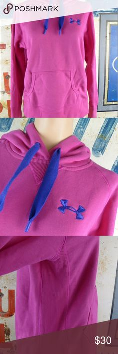 """Under Armour Women's UA Storm Hoodie Top Sz Small Under Armour Women's UA Storm Pink Hoodie Top Sz Small Excellent condition  80% cotton and 20% poly 26"""" L 21"""" side to side at the under arm Under Armour Tops Sweatshirts & Hoodies"""