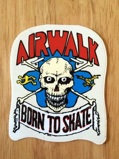 80S AIRWALK SKATEBOARD STICKER