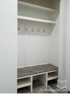 Ikea Closet Storage Floating Shelves 52 Ideas For 2019 Closet Bench, Hallway Closet, Ikea Closet, Closet Shelves, Closet Bedroom, Closet Doors, Closet To Mudroom, Shoe Closet, Entryway Stairs