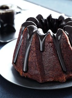 Chocolate Bundt Cake with Licorice Caramel by Have a Yummy Day