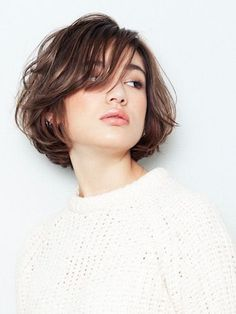 24 Beautiful Short Layered Hairstyles for Women – Page 15 – Hairstyle Short Hair With Layers, Short Hair Cuts, Short Perm, Short Bob Hairstyles, Pretty Hairstyles, Haircuts, Layered Hairstyles, Medium Hair Styles, Curly Hair Styles