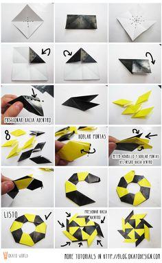Okato World: DIY & Crafts: Origami 8 point Star / Estrella de 8 puntas