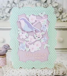 Wedding Wishes Card by Melissa Phillips for Papertrey Ink (February 2016)