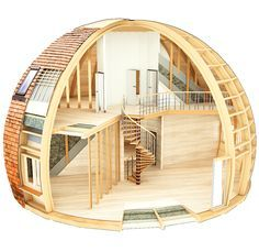 10.5 | Скайдом.рф Casa Circular, Dome House, Eco Friendly House, Building A House, Round Building, Home Projects, House Plans, Geodesic Dome Homes, Yurts