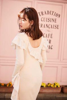 Bleach Orihime, Haruna Kojima, Japanese Models, Hair Looks, White Dress, Flower Girl Dresses, Ruffle Blouse, Actresses, Beauty
