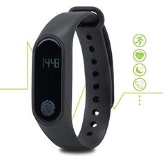 LiKee Fitness Tracker Sleep Monitor Steps Counter Activity Tracker Smart Bracelet(Black) -- See this great product.