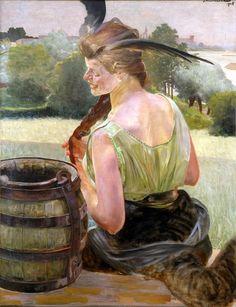 """Jacek Malczewski """"Zatruta studnia z chimerą"""", 1905"""