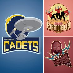 Star Trek Sports Teams Prints - Wedding table names anyone?