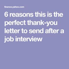 6 reasons this is the perfect thank-you letter to send after a job interview Job Interviews, Job Interview Questions, Job Interview Tips, Interview Preparation, Cover Letters, Cover Letter For Resume, Resume Work, Rn Resume, Resume Help