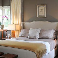 Bedroom Design Ideas, Pictures, Remodel and Décor. Favorite indoor color, Weimeraner gray, Benjamin Moore.