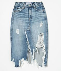 Simple Fall Outfits, Cool Outfits, Girls Fashion Clothes, Fashion Outfits, Jeans Refashion, Old Jeans, Denim Fashion, Diy Clothes, Denim Skirt