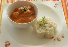 Butter chicken, signé Les recettes de Flo Butter Chicken, Thai Red Curry, Meat, Ethnic Recipes, Food, Greedy People, Recipes, Battle, Kitchens