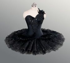 "This unique tutu is created for the role of Odile, the Black Swan, in ""Swan Lake"". The rich sparkling decoration and the ""swan-like"" pattern on the skirt make this tutu the perfect tool for competitions or professional performances. Tutu Ballet, Ballerina Costume, Ballet Costumes, Dance Costumes, Ballet Dance, Swan Lake Costumes, Baby Costumes, The Black Swan, Tutu Bailarina"