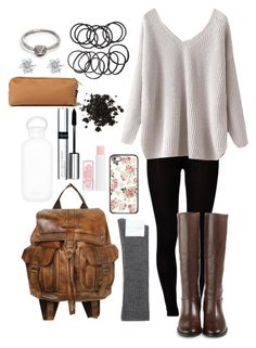 School Outfit by lili-c on Polyvore featuring Majestic, Hansel from Basel, Cole Haan, Free People, Lauren Wolf, Monet, H&M, By Terry, bkr and Barry M