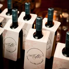 A nice way to dress the bottle with a message to guests