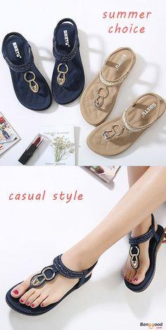 US$24.74+Free shipping.Summer Sandals, Women Flat Sandals, crystal sandals, shoes flats, shoes sandals, Casual, Outdoor, Comfortable. Heel Height: 1-2cm. Platform Height: 1-2cm. Color: Blue, Beige, Black. http://bellanblue.com