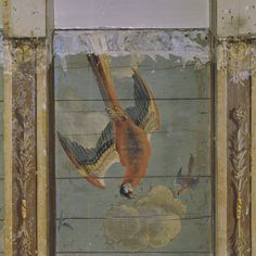 Hidden Birds - In recent years seventeenth century birds like these Amsterdam beauties have popped up from behind the 18th century plaster on several occasions. Painted ceiling.