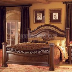 Immerse yourself in the classic elegance of the Mediterranean with the captivating Granada Mansion Bedroom Set by Wynwood Furniture. Cheap Bedroom Sets, Wood Bedroom Sets, Bedroom Bed Design, Bedroom Ideas, Mansion Bedroom, Home Bedroom, Master Bedroom, Queen Bedroom, Ikea Bedroom