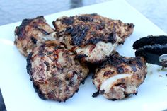Jerk Chicken ... one of the BEST recipes I have found on Pinterest!  Honestly!!!!  We will be cooking this one again!  We grilled it instead of baking it.  MAN, even the boys liked it.  Toned it down with jalepenos instead of the HOT peppers.  ~Trish