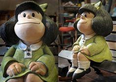La escultura de Mafalda en Bs.As