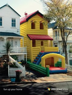 bouncy castle house