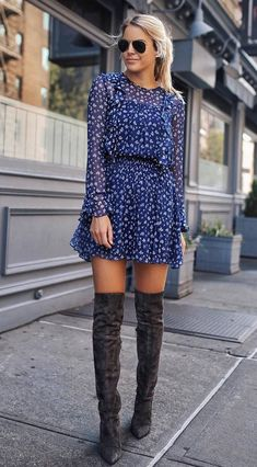 944d47fc0dc Over The Knee Boot Outfit Looks To Get Inspired By  Styling grey over the knee  boots can be tricky if you don t know what to do with them.